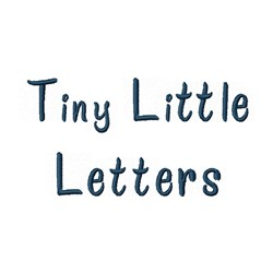 Tiny Little Font embroidery font