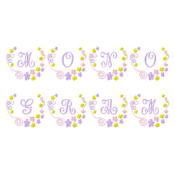 Monograms 51 embroidery font