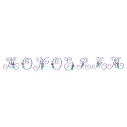 Monogram 59 embroidery font