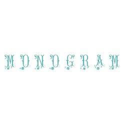 Monogram 63 embroidery font