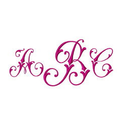 Monogram 56 embroidery font