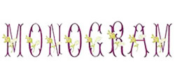 Monograms embroidery font