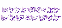 Butterfly Alphabet embroidery font