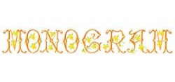 Monograms 16 embroidery font