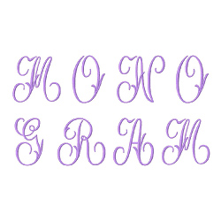 Monograms 44 embroidery font
