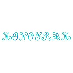 Monogram 61 embroidery font