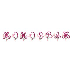 Monogram 62 embroidery font