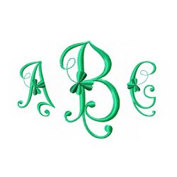 Monogram 58 embroidery font