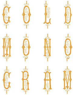 Monograms Font embroidery font