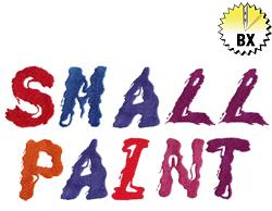 Small Paint 1.86in embroidery font