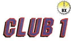 Club 1 1.75in embroidery font