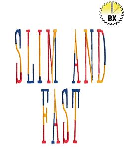 Slim and Fast 3.72in embroidery font