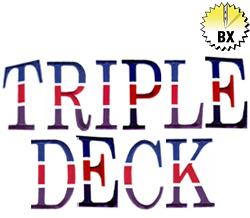 Triple Deck 3in embroidery font