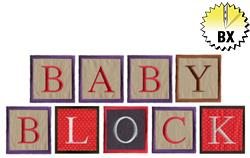 Baby Block 1.98in embroidery font