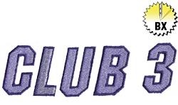 Club 3 1.67in embroidery font