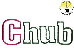 Chub 1.83in embroidery font