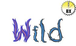 Wild 3.50in embroidery font