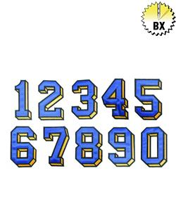 Applique Numbers 4in embroidery font