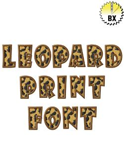 Leopard Font 1.19in embroidery font