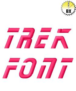 Star Trek Font embroidery font