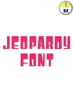 Jeopardy Font 1.25in embroidery font
