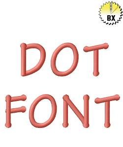 Dot Font 1.10in embroidery font