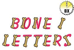 Bone Letters embroidery font