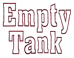 Empty Tank embroidery font