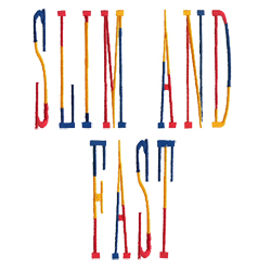 Slim and Fast embroidery font