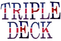 Triple Deck embroidery font