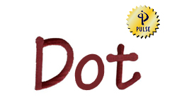Dot embroidery font