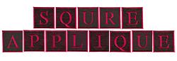 Square Applique embroidery font