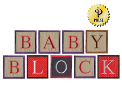 Baby Block embroidery font