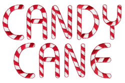 Candy Cane embroidery font