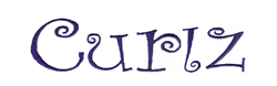 Curlz embroidery font