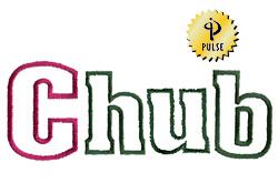 Chub embroidery font