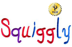 Squiggly embroidery font