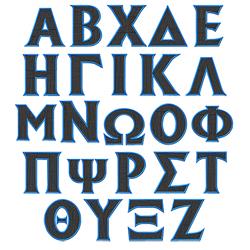 Toga 5 embroidery font