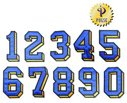 9 inch Applique Numbers embroidery font