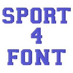 Sport Font embroidery font