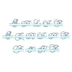 Split Script Font embroidery font