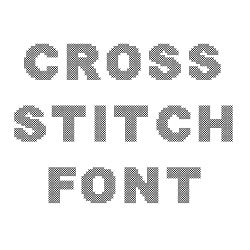 Cross Stitch Font embroidery font