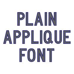 Plain Applique Font embroidery font