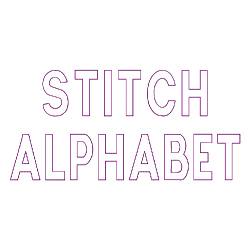 Stitch Alphabet embroidery font