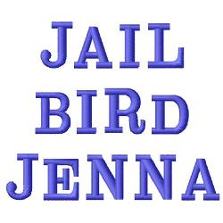 Jailbird Jenna Font embroidery font