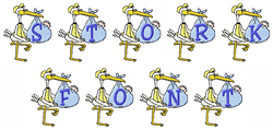 Stork Font embroidery font