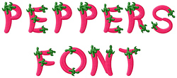 Peppers Alphabet embroidery font