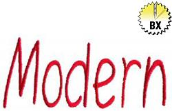 Modern 1.85in embroidery font