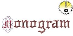 Monogram 4.42in embroidery font
