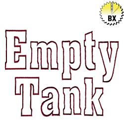 Empty Tank 2.30in embroidery font